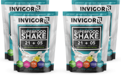 INVIGOR8 Superfood Shake - 3 + 1 gratis